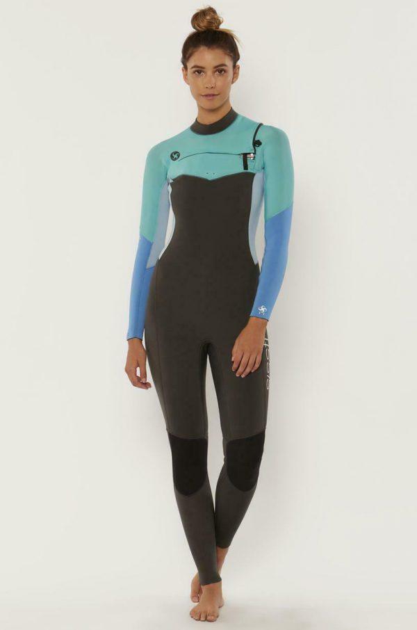 Sisstr 7 Seas Evo 4/3mm Front Zip Women's Wetsuit