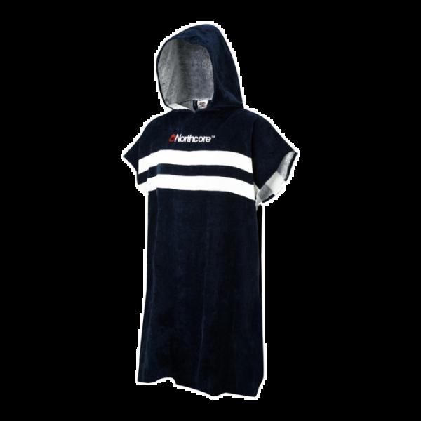 Northcore Beach Basha Stripey Changing Robe - Blue Stripes